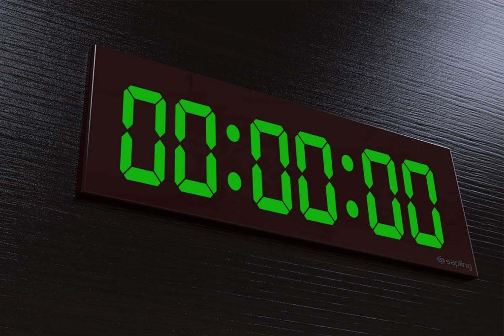 digital clock face reading 00:00:00